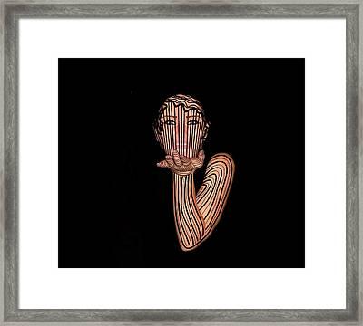 Mask Beautiful Aj Framed Print