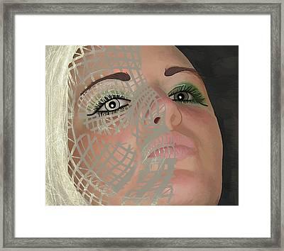 Mask Dark And Light Framed Print