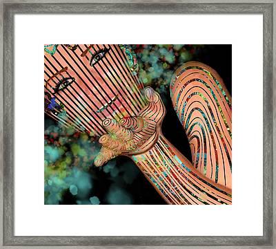 Mask Fairy Dust Framed Print