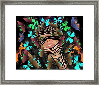 Mask Of Butterflies And Bondage Framed Print