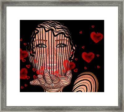 Mask Of Valentine Framed Print