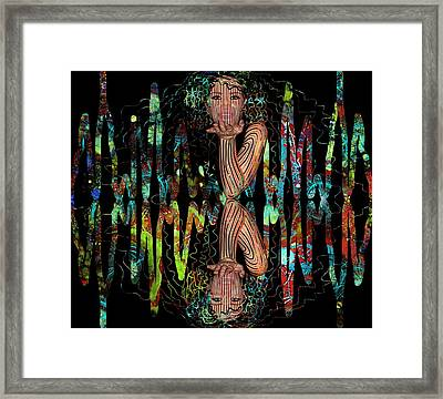 Mask On My Frequency Framed Print