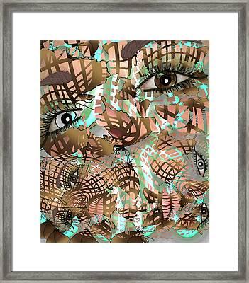 Mask Past Present Future Framed Print