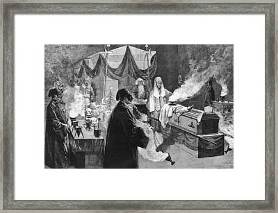 Masonic Ritual Framed Print by Hulton Archive