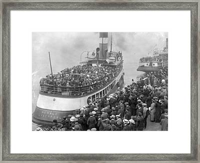 Mass Emigration Framed Print by Topical Press Agency