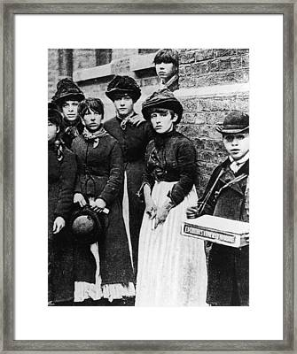 Match Girls Framed Print by Hulton Archive