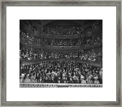 Matinee Audience Framed Print by London Stereoscopic Company