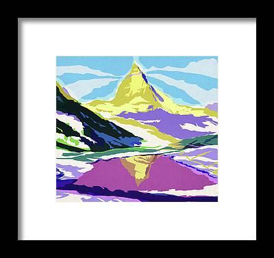Berge Framed Prints