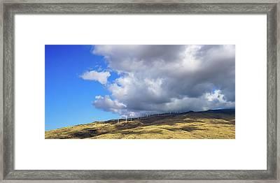 Maui Windmills Framed Print
