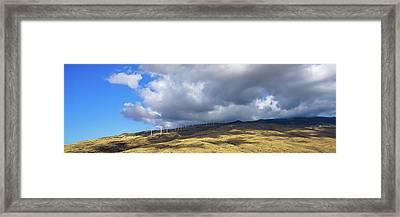 Maui Windmills Wide Framed Print