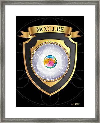 Mcclure Family Crest Framed Print