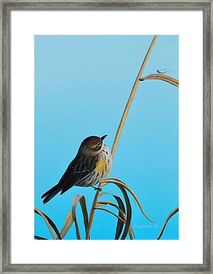 Framed Print featuring the painting Meal Time by Peter Mathios