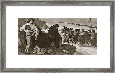 Medeas Raft Framed Print by Spencer Arnold Collection