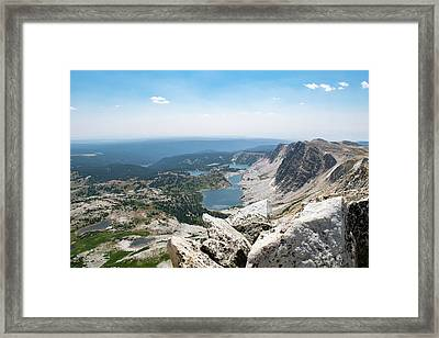 Medicine Bow Peak Framed Print