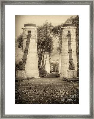 Medieval Bridge Framed Print