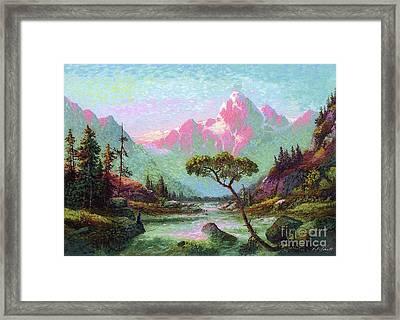 Serenity Meditation Framed Print