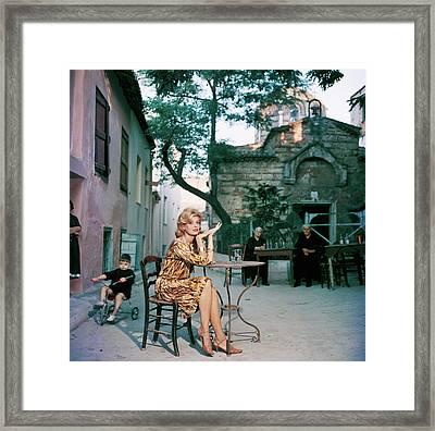 Melina Mercouri Framed Print