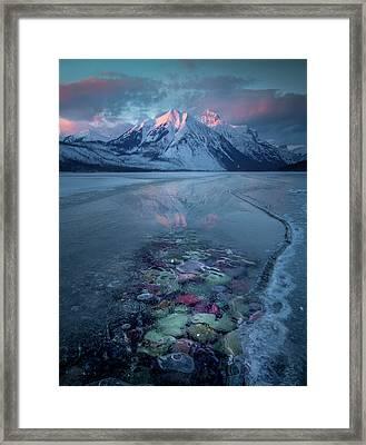 Melt, Freeze, Repeat / Late Winter / Lake Mcdonald, Glacier National Park  Framed Print