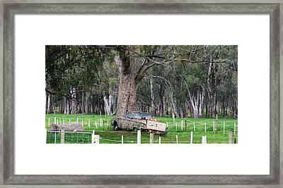 Memories Of The Farm Framed Print