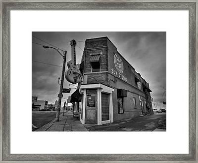 Memphis - Sun Studio 004 Bw Framed Print