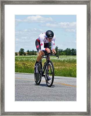 Framed Print featuring the photograph Mens Individual Time Trial No 1 by Brian Carson