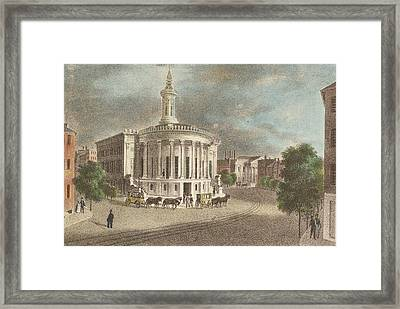 Merchants Exchange, 1838 Framed Print