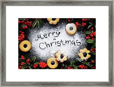 Merry Christmas Framed Print by Oksanab