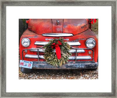 Merry Christmas Texas Framed Print