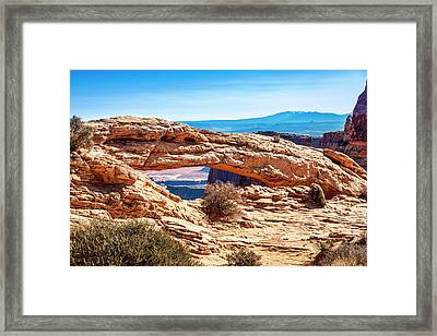 Framed Print featuring the photograph Mesa Arch by Andy Crawford