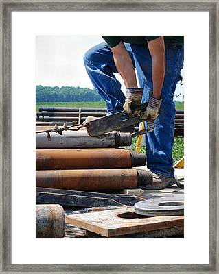 Framed Print featuring the photograph Metal On Metal by Carl Young