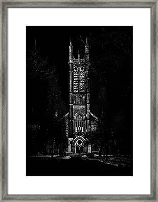 Framed Print featuring the photograph Metropolitan United Church Toronto Canada 3 by Brian Carson