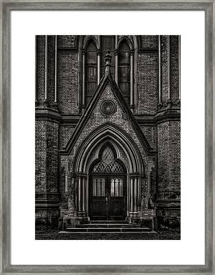 Framed Print featuring the photograph Metropolitan United Church Toronto Canada 7 by Brian Carson
