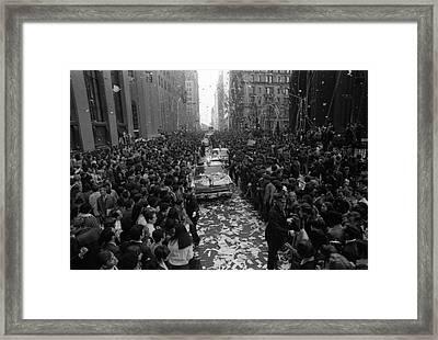 Mets Ticker Tape Parade Framed Print by Fred W. McDarrah