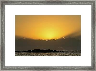 Mexico Ocean Sunrise Framed Print