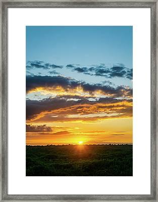 Mexico Sunset Portrait Framed Print