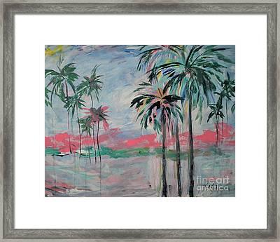 Miami Palms Framed Print
