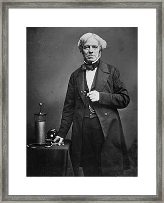 Michael Faraday Framed Print by Hulton Archive
