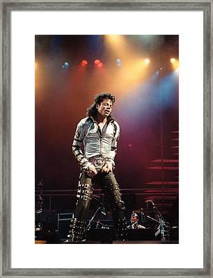 Michael Jackson Bad World Tour Framed Print by Jim Steinfeldt