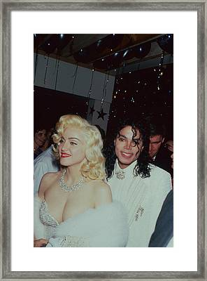 Michael Jacksonmadonna Framed Print by Time Life Pictures
