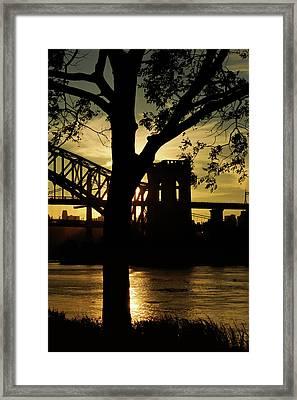 Mid Autumn Silhouette Framed Print