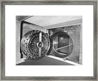Midland Bank Safe Framed Print by Evening Standard