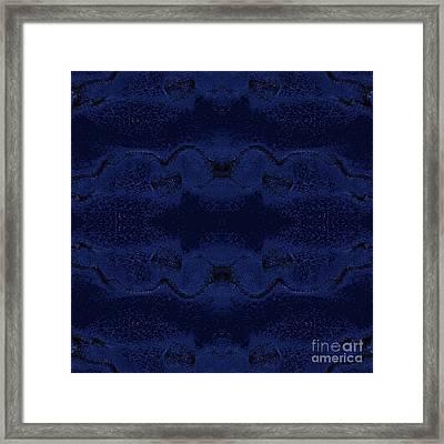 Framed Print featuring the digital art Midnight Blue by Rachel Hannah