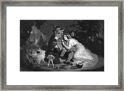 Midsummer Nights Dream Illustration Framed Print by Kean Collection