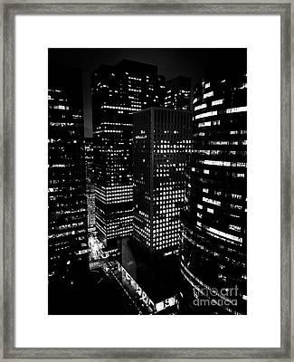 Midtown Manhattan, Nyc, Clear Winter Night Framed Print by JMerrickMedia