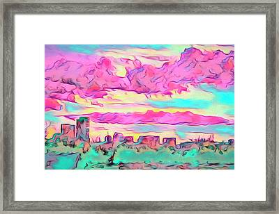 Mile High Sunset Framed Print
