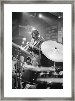 Miles Davis Performing In Nightclub Framed Print