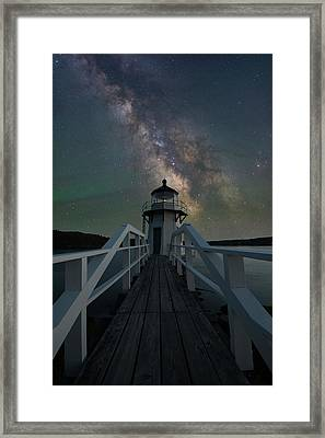 Milky Way Over Doubling Point Framed Print