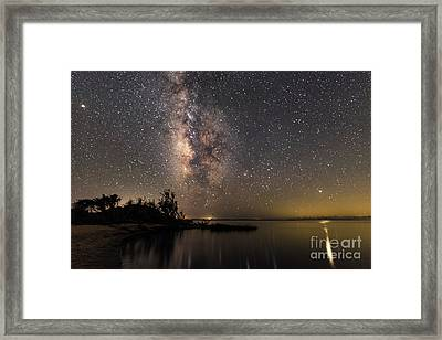 Framed Print featuring the photograph Milky Way Over The Outer Banks by Terry Rowe