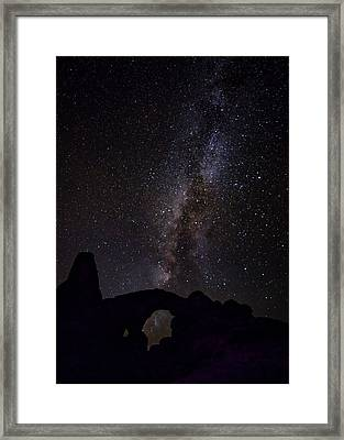 Framed Print featuring the photograph Milky Way Over The Windows by David Morefield