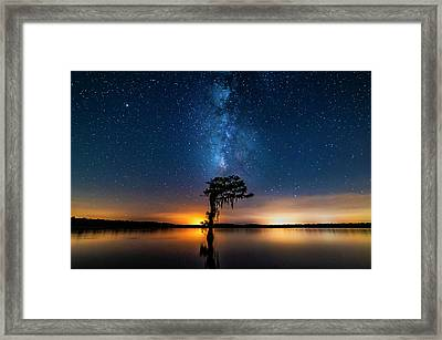 Framed Print featuring the photograph Milky Way Swamp by Andy Crawford